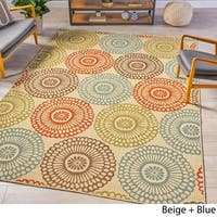 Anniston Indoor Floral Area Rug by Christopher Knight Home - 7'10 x 10'10
