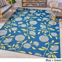 Dvorah Indoor Floral Area Rug by Christopher Knight Home - 7'10 x 10'10