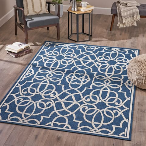 Jacyntha Indoor Geometric Area Rug by Christopher Knight Home - 5'3 X 7'6