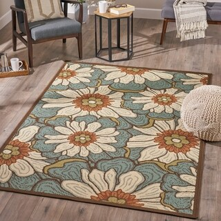 Brynn Indoor Floral Area Rug by Christopher Knight Home - 5'3 x 7'6