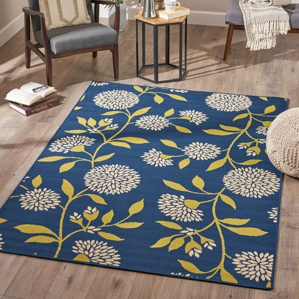 Dvorah Indoor Floral Area Rug by Christopher Knight Home - 5'3 X 7'6