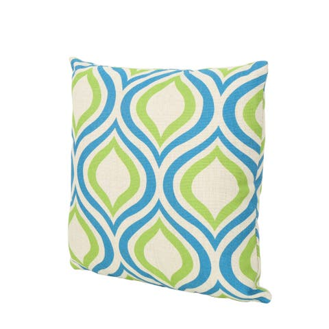 """Phuket Ikat Outdoor Water Resistant 18"""" Square Pillow by Christopher Knight Home"""