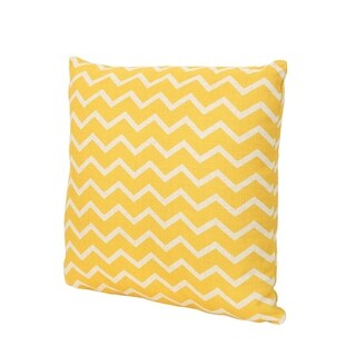"Yellow Lagoon Outdoor Water Resistant 18"" Square Pillow by Christopher Knight Home"