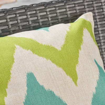 """Adriatic Outdoor Water Resistant 18"""" Square Pillow by Christopher Knight Home"""