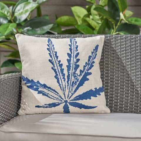 """Cypress Outdoor Water Resistant 18"""" Square Pillow by Christopher Knight Home"""