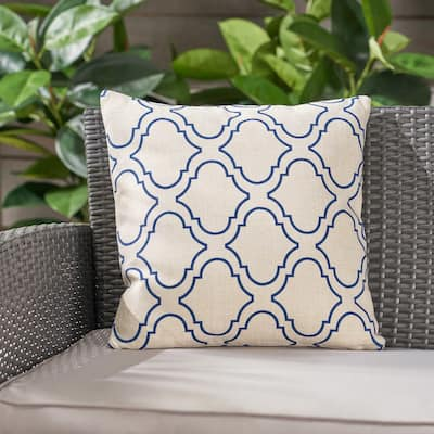 """Moher Water Resistant 18"""" Square Pillow by Christopher Knight Home"""