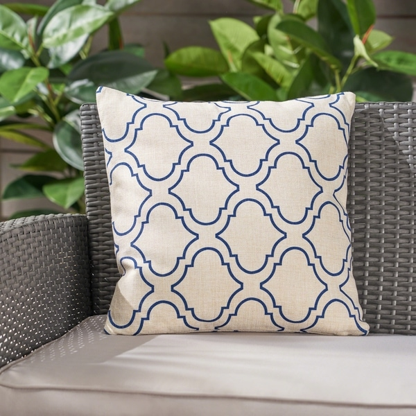 """Moher Water Resistant 18"""" Square Pillow by Christopher Knight Home. Opens flyout."""