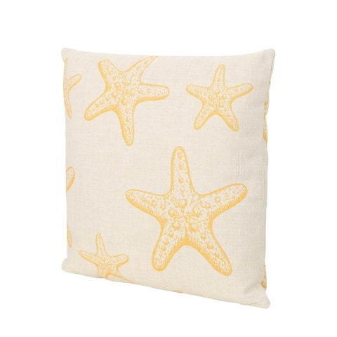 "Starfish Outdoor Water Resistant 18"" Square Pillow by Christopher Knight Home"