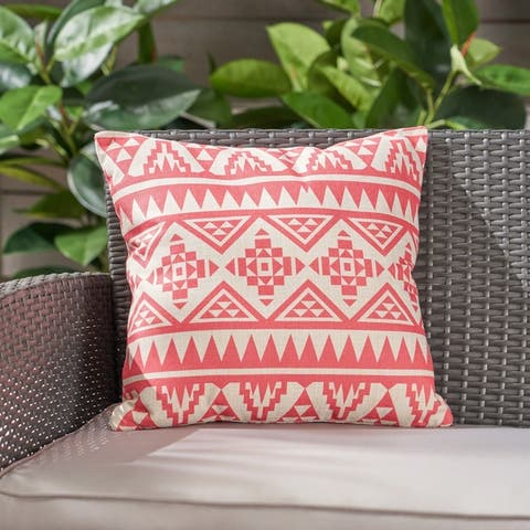 """Caroline Outdoor Water Resistant 18"""" Square Pillow by Christopher Knight Home"""