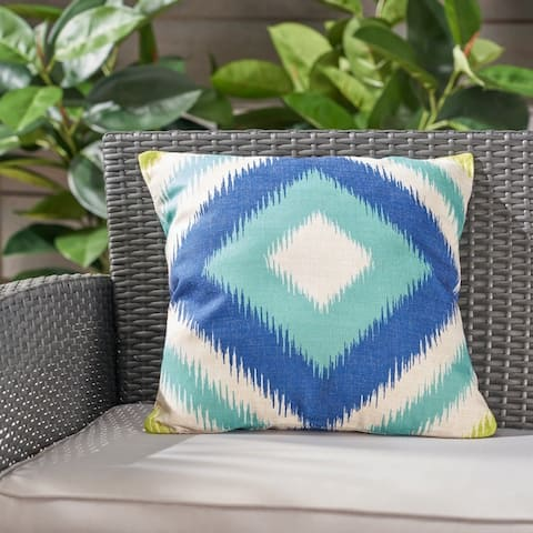 """Victoria Outdoor Water Resistant 18"""" Square Pillow by Christopher Knight Home"""