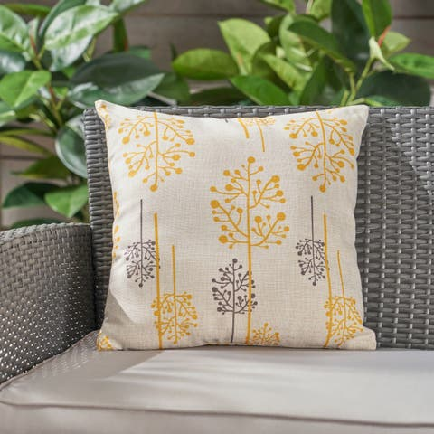 """Sagres Outdoor Water Resistant 18"""" Square Pillow by Christopher Knight Home"""