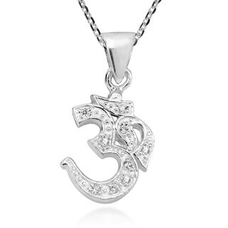 Handmade Charming Cubic Zirconia Symbol Sterling Silver Necklace (Thailand)