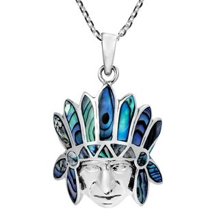 Handmade Native American Style Inlay Sterling Necklace (Thailand) (3 options available)