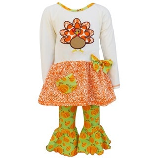 AnnLoren Original Thanksgiving Turkey and Pumpkin Tunic and Leggings