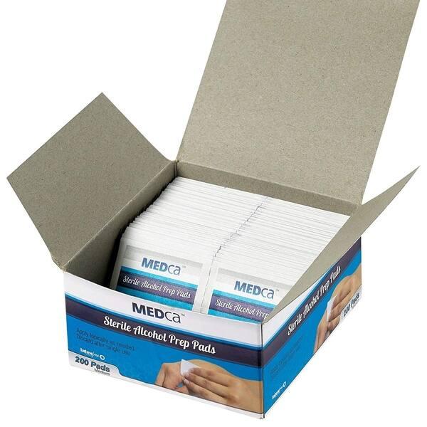 2fba06963c38b Shop MEDca Alcohol Prep Pads, Sterile, Medium, 2-Ply Pack of 200 ...