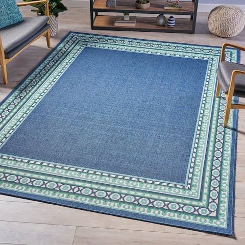 Madolyn Indoor Border Area Rug by Christopher Knight Home - 7'10 x 10'10
