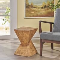 Atlas Light-Weight Concrete Side Table by Christopher Knight Home