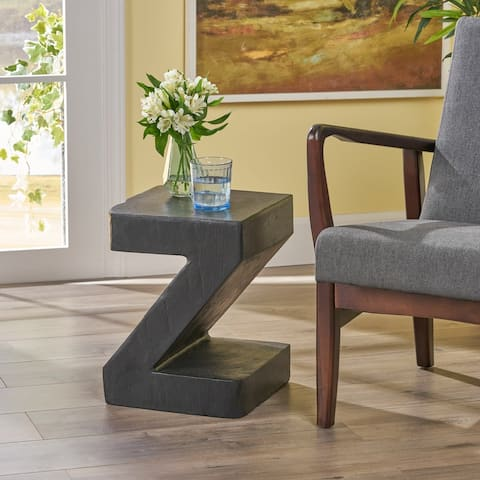 DeAngelo Light-Weight Concrete Side Table by Christopher Knight Home