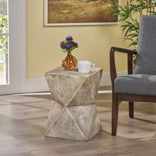 Link to Bryleigh  Light-Weight Concrete Side Table by Christopher Knight Home Similar Items in Living Room Furniture