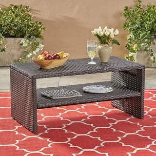 St. Marta Outdoor Wicker Coffee Table by Christopher Knight Home