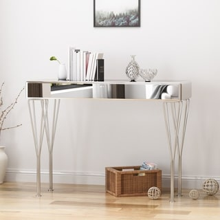 Ophelia Modern Glam Mirrored Console Table by Christopher Knight Home