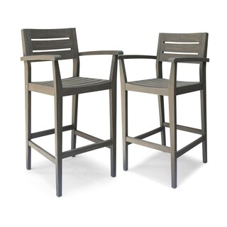Stamford Outdoor Acacia Wood Barstool by Christopher Knight Home
