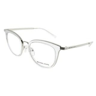 Michael Kors Round MK 3026 Aruba 3050 Woman Silver Frame Eyeglasses