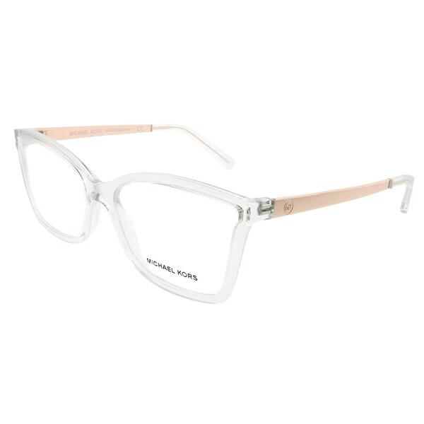 b31338a1d066 Michael Kors Rectangle MK 4058 Caracas 3050 Woman Crystal Clear Frame  Eyeglasses