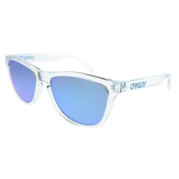 928d7bbe0b Oakley Square OO 9013 Frogskins 9013D0 Unisex Crystal Clear Frame Prizm Sapphire  Lens Sunglasses