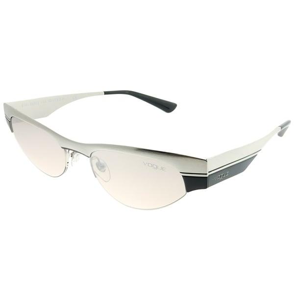 d159ef4401e Vogue Eyewear Cat-Eye VO4105S Gigi Hadid For Vogue 3238Z Woman Brushed  Silver Black Frame