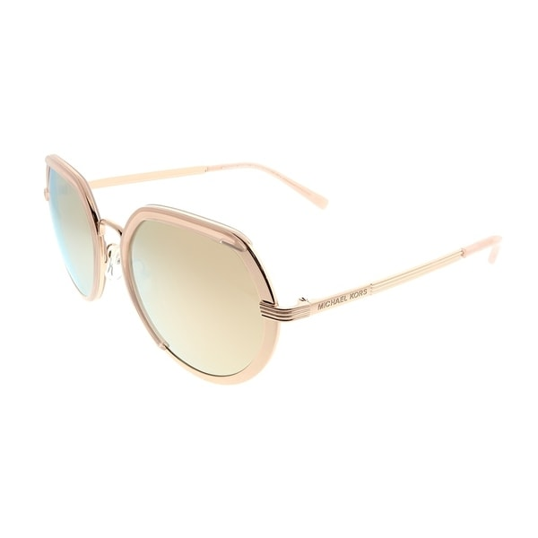 caed0be496 Michael Kors Round MK 1034 Ibiza 32465A Woman Rose Gold Tone Frame Liquid Rose  Gold Mirror
