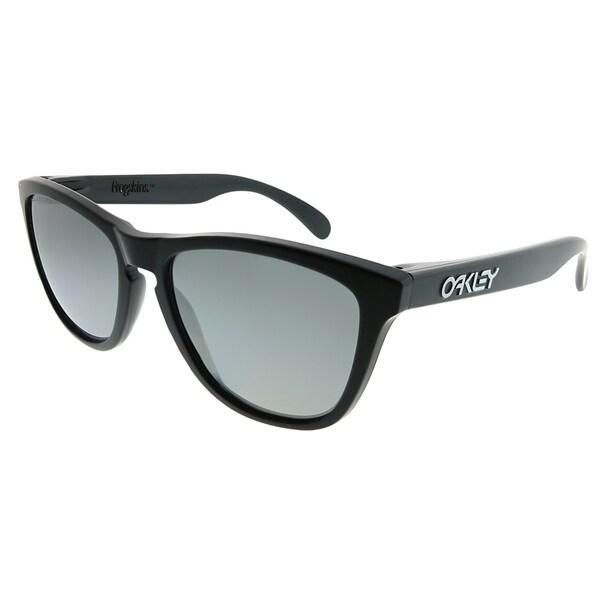8e9b26f44a Oakley Square OO 9013 Frogskins 24-297 Unisex Matte Black Frame Black  Iridium Polarized Lens