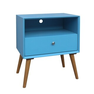 Porthos Home Side Table/Nightstand With Drawer (Blue)