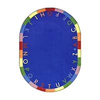 "Joy Carpets Kid Essentials Early Childhood Rainbow Alphabet Oval Area Rug 7'8"" x 10'9"" - Bold - Multi - 7'8"" x 10'9"" Oval"