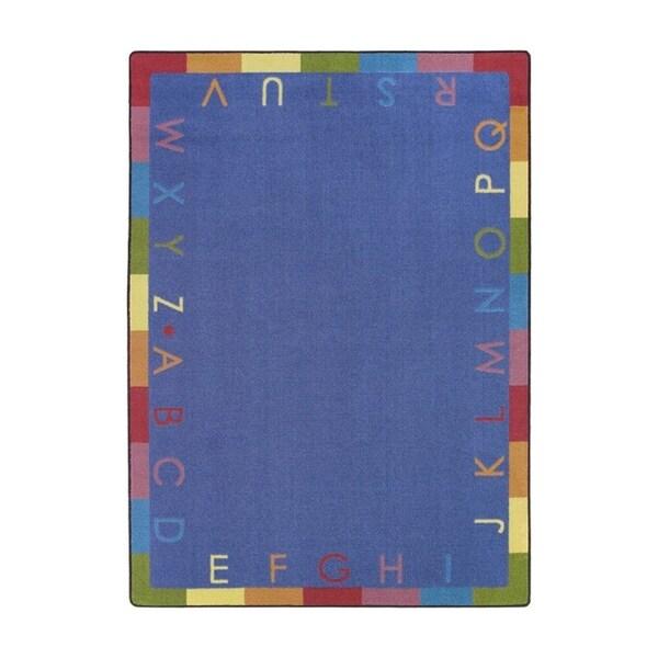 Joy Carpets Kid Essentials Early Childhood Rainbow Alphabet Rectangular Area Rug 5 X27 4
