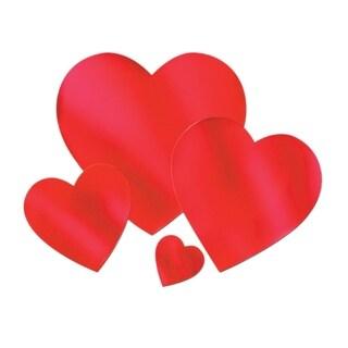 """Beistle Foil Heart Cutout 15"""" - 24 Pack"""