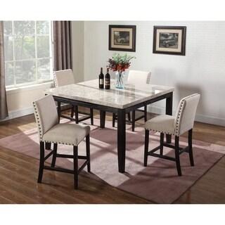 Best Master Furniture 5 Pcs Antique Black Counter Height