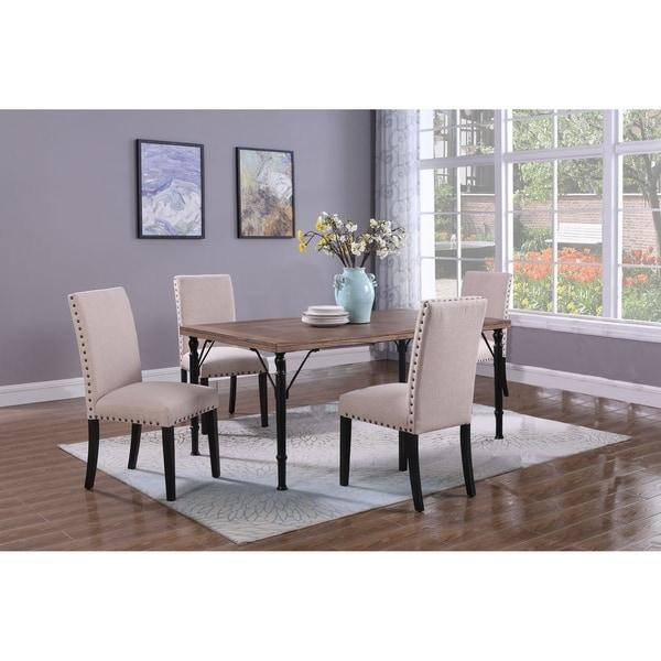 Shop Best Master Furniture Weathered Oak Sleigh: Shop Best Master Furniture 5 Pieces Manhattan Dining Set