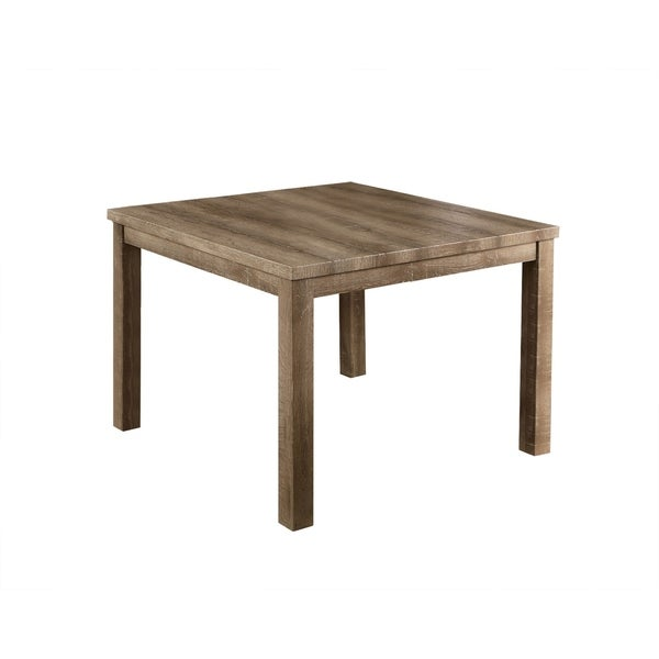 Shop Best Master Furniture Weathered Oak Sleigh: Shop Best Master Furniture Light Oak Square Counter Height