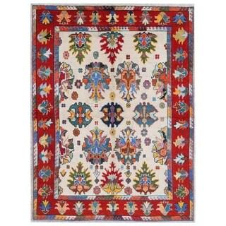 Herat Oriental Afghan Hand-knotted Kargahi Wool Rug (6' x 8')