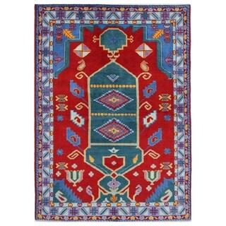 Herat Oriental Afghan Hand-knotted Kargahi Wool Rug (5'7 x 8')
