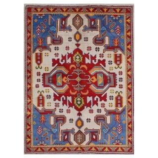 Herat Oriental Afghan Hand-knotted Kargahi Wool Rug (5' x 6'8)