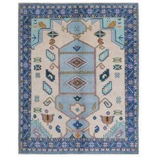 Herat Oriental Afghan Hand-knotted Kargahi Wool Rug (5'2 x 6'5)
