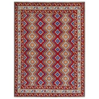 Herat Oriental Afghan Hand-knotted Kargahi Wool Rug (5' x 6'9)