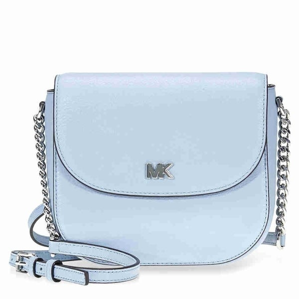 5083b7d6a729 Shop Michael Kors Mott Pale Blue Crossbody Bag - Free Shipping Today -  Overstock - 22392423