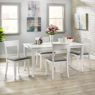 Simple Living Bistrol Dining Set (White - 5-Piece Sets - 4)