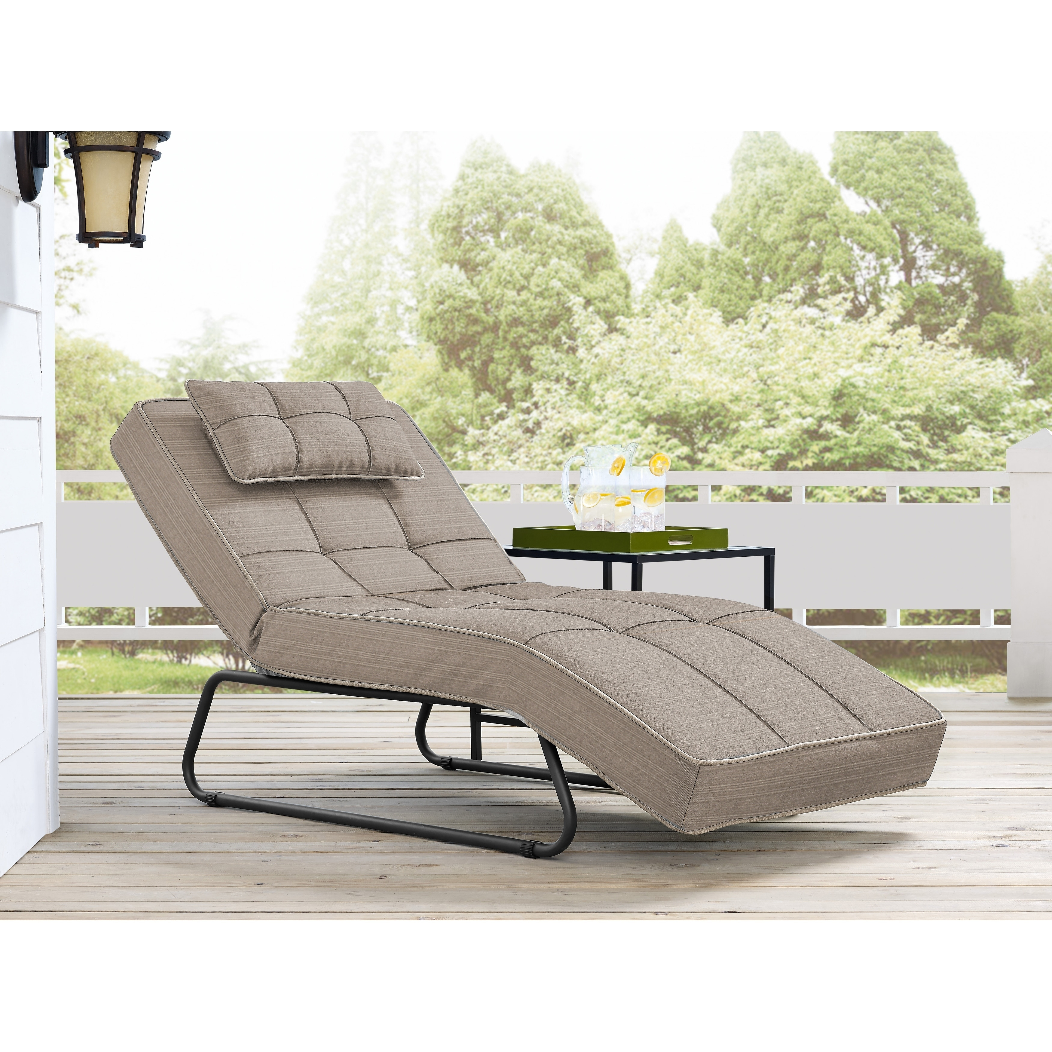 Relax A Lounge Laguna Pool And Deck Convertible Chaise Cabana Sand (Tan)