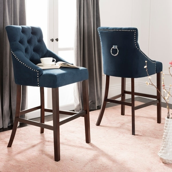 Furniture Sale Extra 15 Off At Target Com: Shop Safavieh 30-inch Eleni Tufted Wing Back Bar Stool