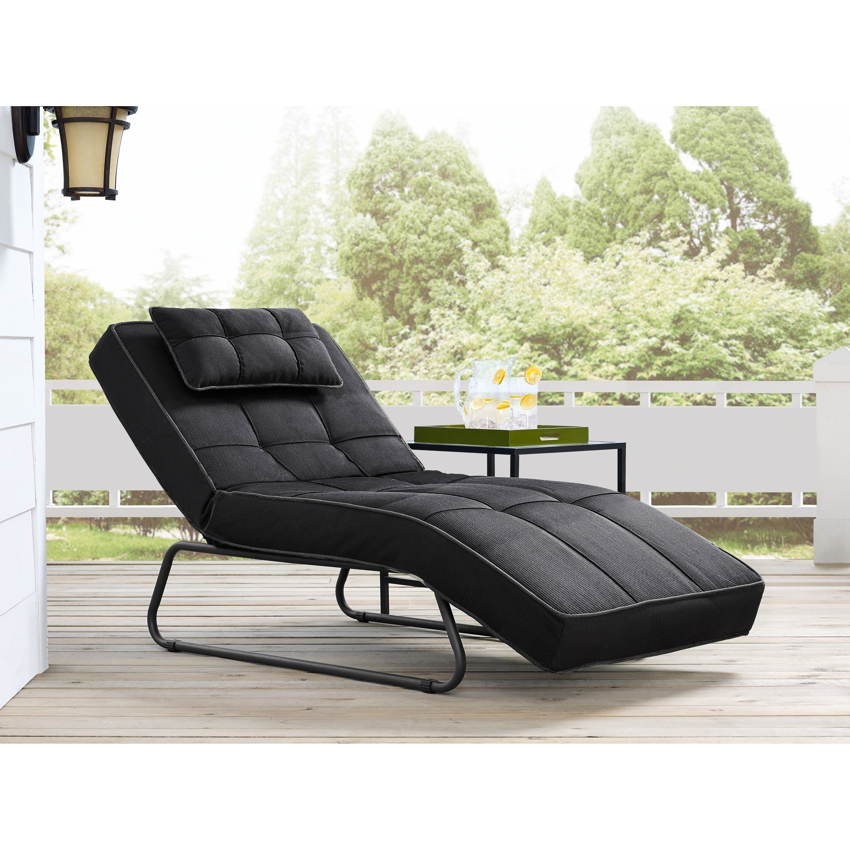 Relax A Lounge Laguna Pool And Deck Convertible Chaise Dark Grey (Grey)