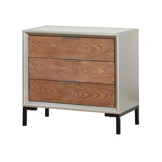 Treasure Trove Collins Brown and Champagne 3-drawer Chest with Power